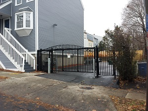 Metal sliding gate installation in West Haven